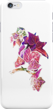 Red ivy iphone case by Agnes McGuinness
