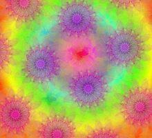 Rainbow Gradient Kaleidoscope iPad Case by Cherie Balowski
