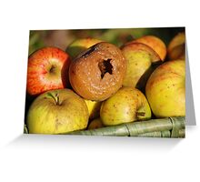 Bad apple in the basket Greeting Card