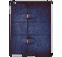 Blue Leather Satchel iPad Case/Skin