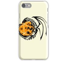 Dungeons and Dragons - Black and Orange! iPhone Case/Skin
