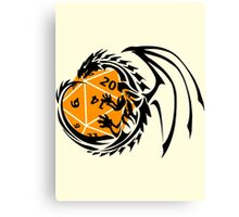 Dungeons and Dragons - Black and Orange! Canvas Print