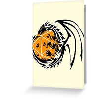 Dungeons and Dragons - Black and Orange! Greeting Card
