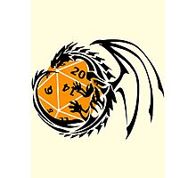 Dungeons and Dragons - Black and Orange! Photographic Print