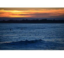 Surf at Sunset Photographic Print