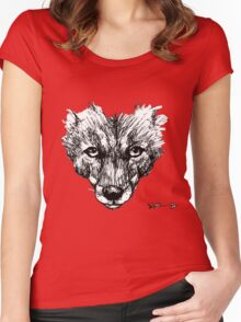 The Fox - Ink Drawing Women's Fitted Scoop T-Shirt