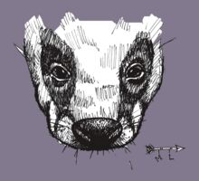 The Badger - Ink Drawing Kids Clothes