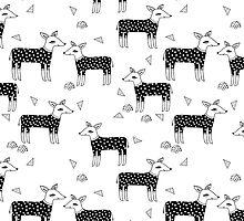Deer Sweaters BW - by Andrea Lauren  by Andrea Lauren