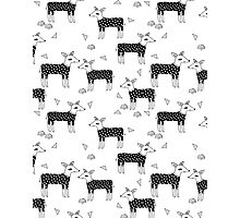 Deer Sweaters BW - by Andrea Lauren  Photographic Print