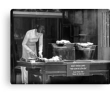 "Sweet Potato Stall: ""Where we grow up"" Canvas Print"