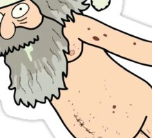 Rick & Morty - Giant Naked Sky Santa! Sticker
