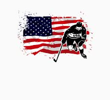 American Ice Hockey - USA Vintage Flag Unisex T-Shirt