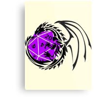 Dungeons and Dragons - Black and Purple! Metal Print