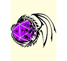 Dungeons and Dragons - Black and Purple! Photographic Print