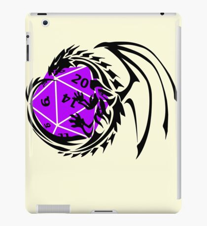 Dungeons and Dragons - Black and Purple! iPad Case/Skin