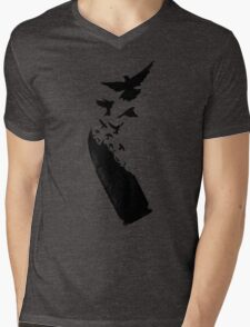 Bullet Birds Mens V-Neck T-Shirt