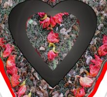 Flower Petal Heart Sticker Sticker