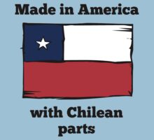 Made In America With Chilean Parts Kids Tee