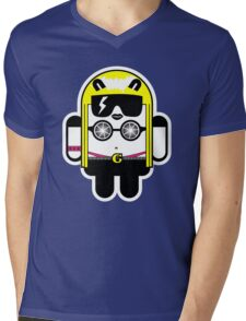 Lady Gaga goes Google Android Style!  Mens V-Neck T-Shirt