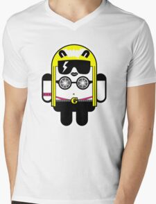 Lady Gaga goes Google Android Style!  Mens V-Neck T-Shirt