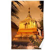 Golden Stupa, Wat Chao Mangrai Poster