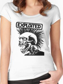THE Exploited punk Rock Women's Fitted Scoop T-Shirt