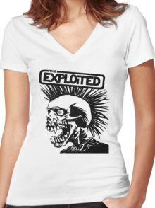 THE Exploited punk Rock Women's Fitted V-Neck T-Shirt