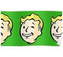 Fallout - Vault Boy Pattern Poster