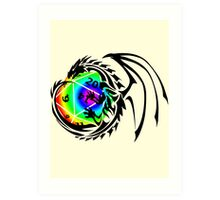 Dungeons and Dragons - Black and Rainbow (Prismatic)! Art Print