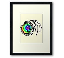 Dungeons and Dragons - Black and Rainbow (Prismatic)! Framed Print