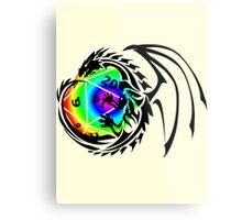 Dungeons and Dragons - Black and Rainbow (Prismatic)! Metal Print