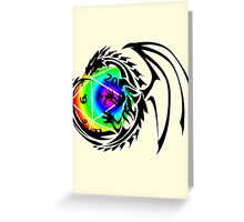 Dungeons and Dragons - Black and Rainbow (Prismatic)! Greeting Card