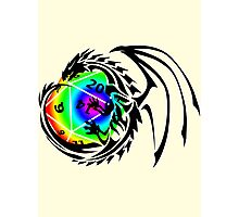 Dungeons and Dragons - Black and Rainbow (Prismatic)! Photographic Print