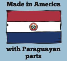 Made In America With Paraguayan Parts Kids Tee