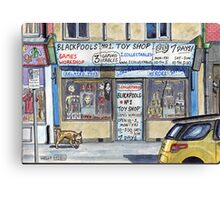 toy shop for nerds Canvas Print