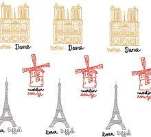 Paris Monuments by Jihane Chartier