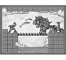 Super Mario Final Koopa Vintage Engraving Photographic Print