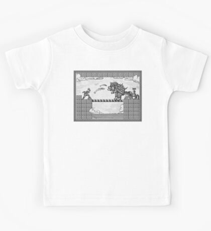 Super Mario Final Koopa Vintage Engraving Kids Tee