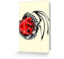 Dungeons and Dragons - Black and Red! Greeting Card