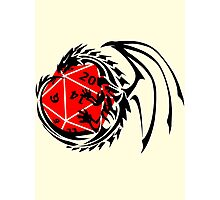 Dungeons and Dragons - Black and Red! Photographic Print