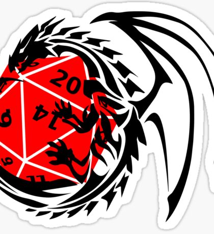 Dungeons and Dragons - Black and Red! Sticker