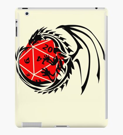Dungeons and Dragons - Black and Red! iPad Case/Skin