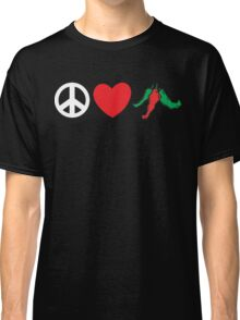 "Mexican ""Peace Love Hot Chile Peppers"" Classic T-Shirt"