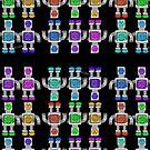 Cute Little Robots iPad Case by Cherie Balowski