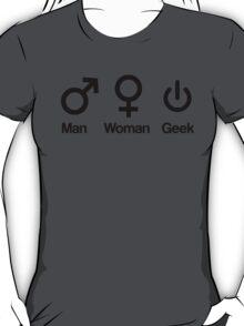 Man, Woman, Geek T-Shirt