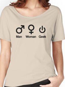 Man, Woman, Geek Women's Relaxed Fit T-Shirt