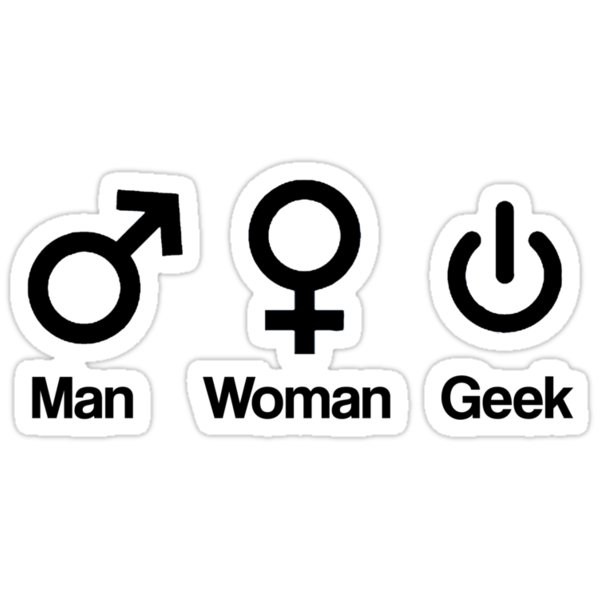 Man, Woman, Geek by gemzi-ox