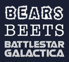 Bears Beets Battlestar Galactica Tshirt | The Office Michael Scott Dunder Mifflin Dwight Schrute by Tee Dunk