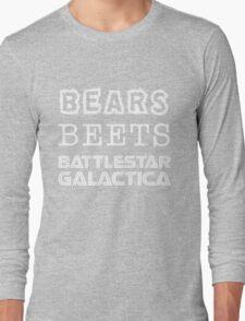 Bears Beets Battlestar Galactica Tshirt   The Office Michael Scott Dunder Mifflin Dwight Schrute Long Sleeve T-Shirt