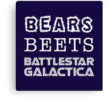Bears Beets Battlestar Galactica Tshirt | The Office Michael Scott Dunder Mifflin Dwight Schrute Canvas Print